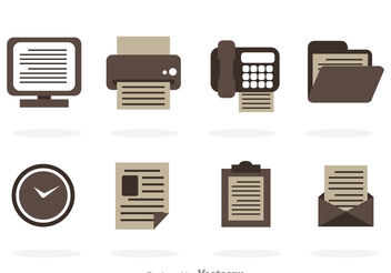 Grayscale Office Vector Icons - бесплатный vector #151767