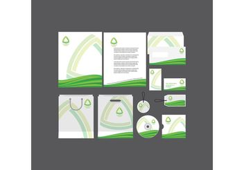 Green Company Profile Template - vector gratuit(e) #151837