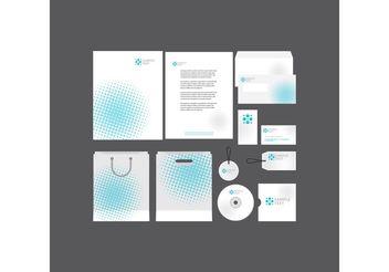 Halftone Company Profile Template - vector gratuit #151857