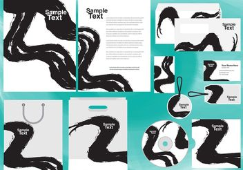 Corporate Chinese Calligraphy Template - vector #151877 gratis