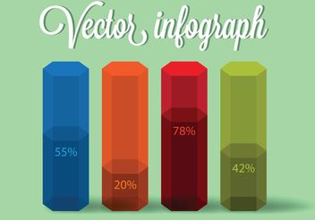 Colorful Infographic Vector - бесплатный vector #151947
