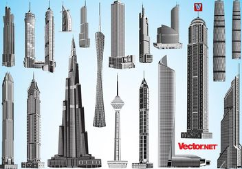 Skyscrapers - vector gratuit #151997