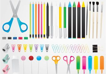 Stationery Vectors - Free vector #152147