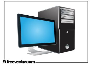 Desktop Computer Graphics - Free vector #152167