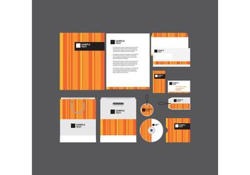 Orange Striped Company Profile Template - бесплатный vector #152237