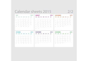 Vector Calendar Sheets 02 - Free vector #152257
