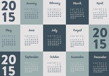2015 Calendar - Free vector #152267