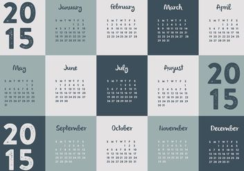 2015 Calendar - vector #152267 gratis