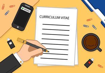Reading A Curriculum Vitae Vector - vector gratuit #152277