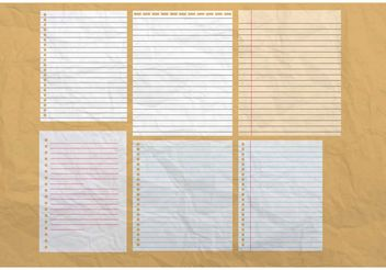 Paper Notebook Background Vectors - vector #152327 gratis