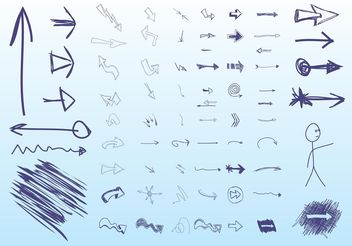 Hand Drawn Arrows - Kostenloses vector #152497