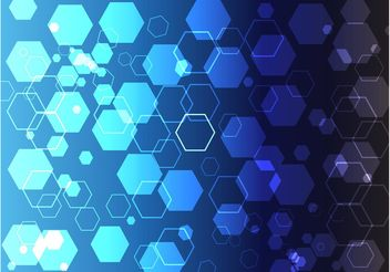 Blue Hexagon Theme - vector gratuit #152527