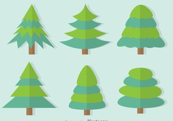 Duo Tone Tree Vector Set - Free vector #152567