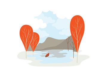 Vector Landscape Illustration - Free vector #152597