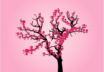 Vector Cherry Tree - vector gratuit #152637