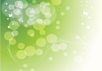 Green Stars Dots Background - Free vector #152747