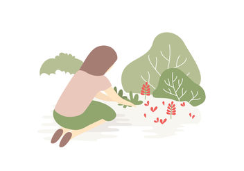 Vector Illustration Garden - Free vector #152837