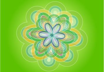 Green Flower - vector #152927 gratis