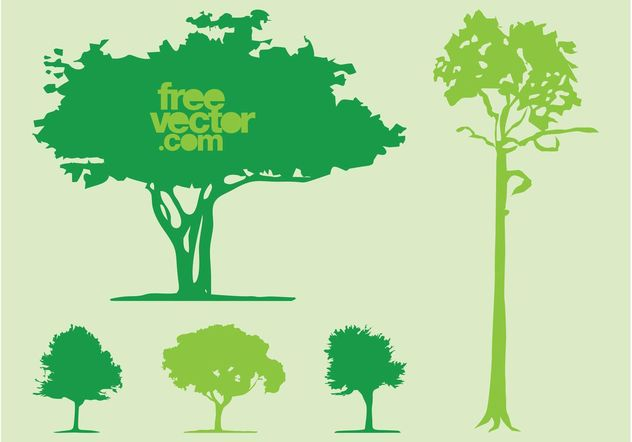 Tree Silhouettes - Free vector #152977