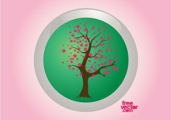 Spring Tree Badge - Free vector #153117