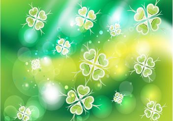 Green Clover Background Image - vector gratuit #153137