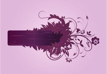Flowers Vector Banner - Free vector #153317
