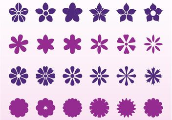 Flowers Blossoms Set - vector gratuit #153387