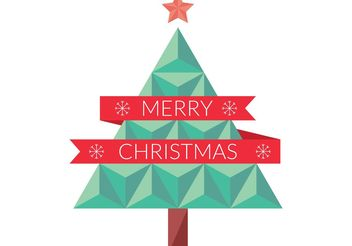 Flat Geometric Christmas Tree Vector - vector #153397 gratis