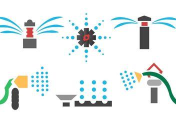 Sprinklers Vector - Free vector #153447