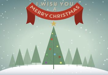 Vector Christmas Tree Background - Free vector #153477