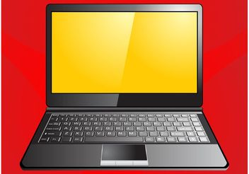 Laptop Graphics - vector gratuit #153547