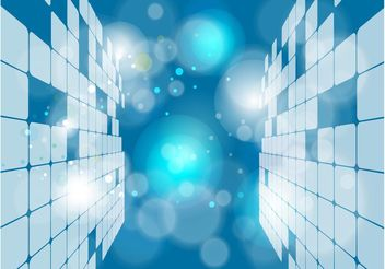 Blue Surreal Squares Background - Free vector #153717