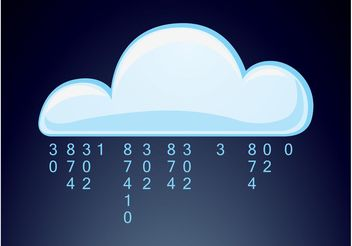 Digital Cloud - Free vector #153727