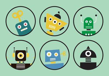 Human Robot Vectors - Free vector #153847