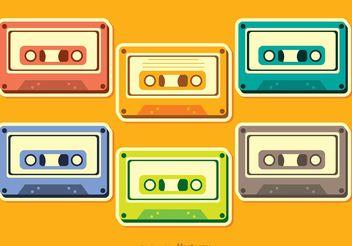 Cassette Vectors Pack - Free vector #153887