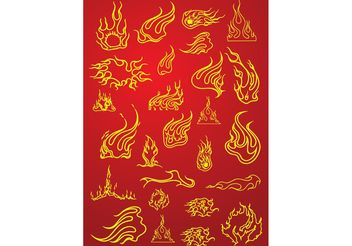 Tattoo Fire Flames - vector gratuit #153907