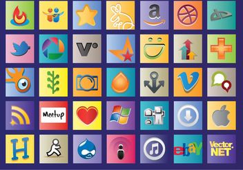 Social Web Logos - Free vector #153927