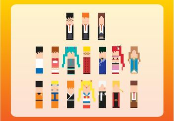 8-Bit Characters - Free vector #153937
