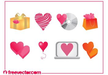 Heart Designs Set - Free vector #153997
