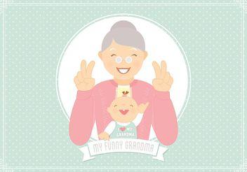 Free Funny Grandma Vector - Kostenloses vector #154007