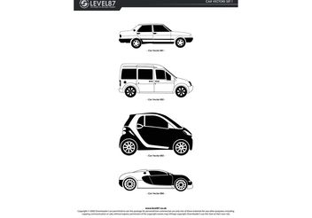 Car Set - vector gratuit #154047