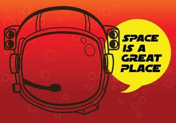 Astronaut Helmet - Free vector #154117