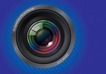 Camera Lens - Free vector #154177