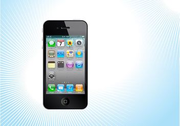 iPhone Vector - vector #154227 gratis