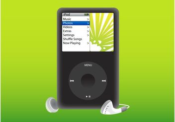 iPod Player - Kostenloses vector #154247