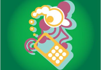 Mobile Phone Graphics - vector gratuit #154317
