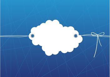 Cloud Label - Kostenloses vector #154377