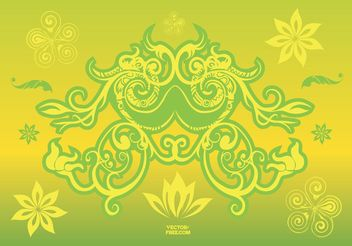 Flower Design Elements - vector gratuit #154647