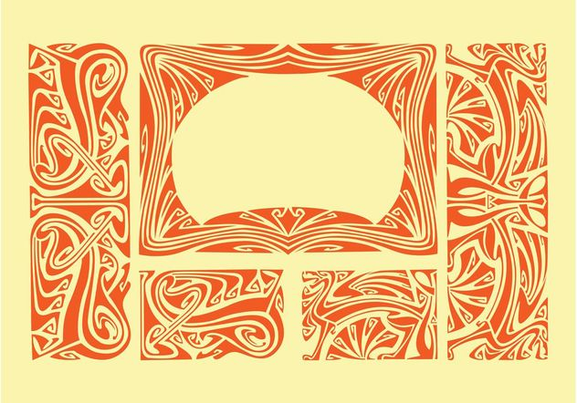 Art Nouveau Borders - Free vector #154657