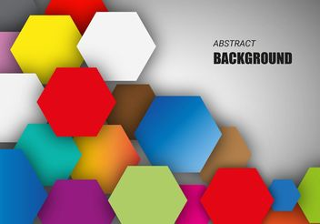 Free Colorful Hexagonal Background Vector - Free vector #154687